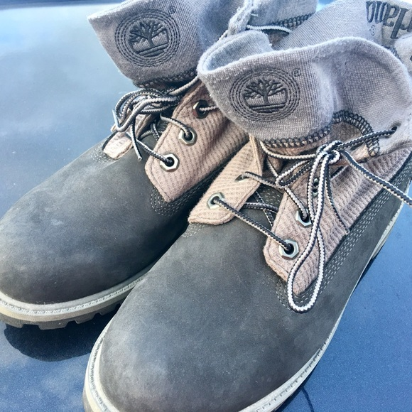 Stupendous Timberland Men 6 1 2 M Basic Roll Top Gray Boots Caraccident5 Cool Chair Designs And Ideas Caraccident5Info